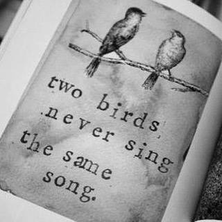 two birds never sing the same song
